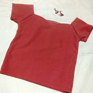 OLD ROSE TOP with Earings