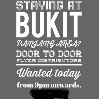 D2D flyer distributor in Bukit Panjang