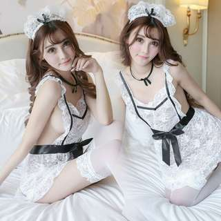 *FREE SHIPPING*READY STOCK* Sexy Lingerie Sleepwear Maid Costume Cosplay