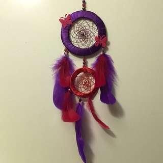 Ready Stock Handmade Dreamcatcher - Purple & Red