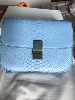 Celine Python Medium Box Flap Bag