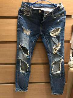 Zara Jeans 爛牛仔褲 skinny fit