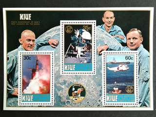 Niue-(First landing on the moon) mini sheets