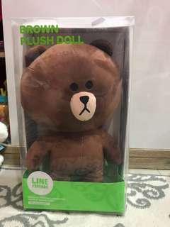 line brown plush doll 35cm