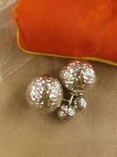 White Gold Dior Inspired Earrings