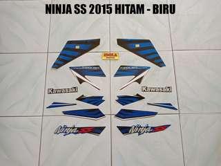 Striping Ninja SS 2015 Hitam - Biru