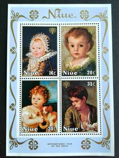 Niue-(year of the child) mini sheets