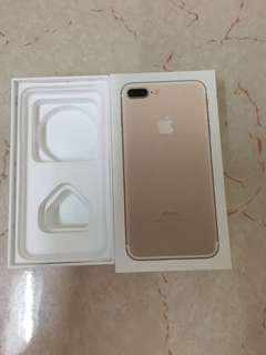 iPhone 7plus 128GB Gold 盒