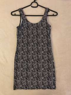 [New] H&M Printed Bodycon Low-back Dress