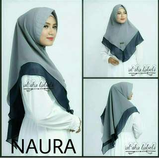 Naura Alsha Khimar 2Tone AZ