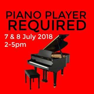 Wanted: Piano Player for Event