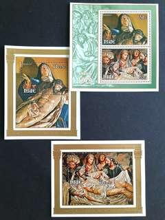 1979 Niue x3 mini sheets