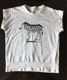 Pre-loved Zebra White Shirt