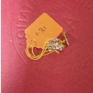 916 GOLD LV EARRING - INSTOCK