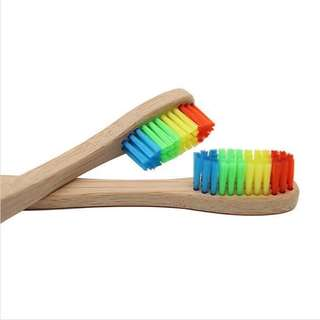 Eco-friendly Bamboo Toothbrush (Colored)