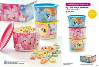 Tupperware canister My little Pony sets 3pcs