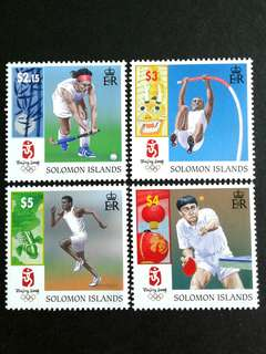 2008 Solomon islands (Beijing Olympic) Stamps