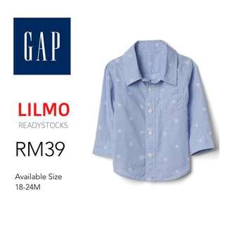 Baby Gap Snowflakes Button Down Shirt