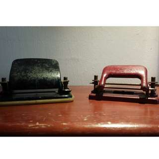 Offer of Two Vintage 2 hole-Paper Punchers @S$79