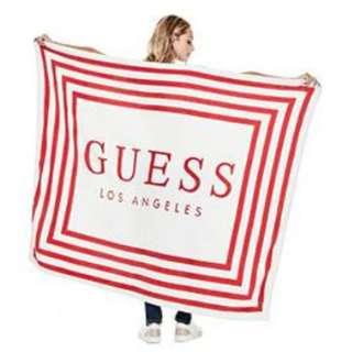 Guess logo超柔軟羊毛毯子 fleece logo blanket 現貨