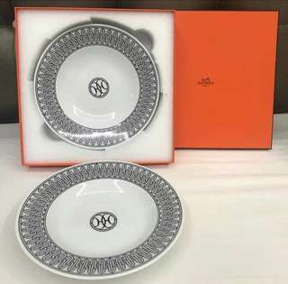 Bnew Hermes Soup Plates
