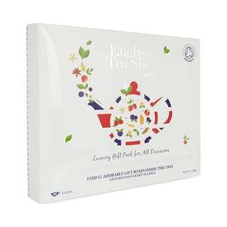 🚚 [現貨] 英國代購 英國English Tea Shop 豪華有機茶葉禮盒 12種口味共96入 168g