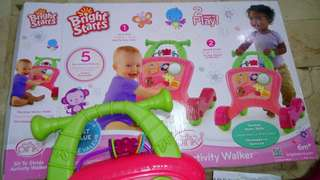Bright Starts Pink Activity Walker