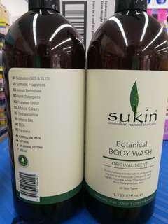 Sukin Botanical Body Wash 1 ltr