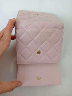 Chanel Small Compact Wallet Baby Pink Lamb