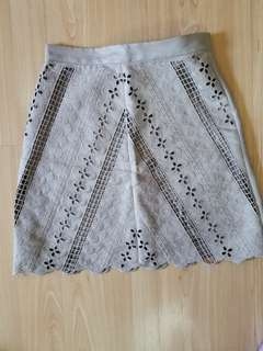 H&m suede mini skirt size 4