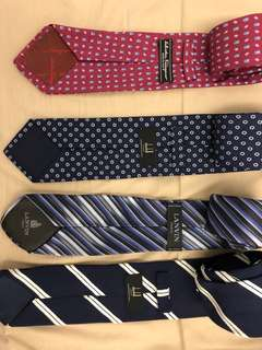 Collection of designer ties
