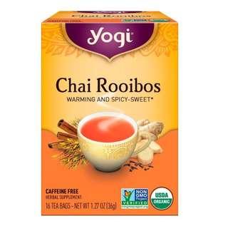 Yogi Tea, Organic, Chai Rooibos, Caffeine Free, 16 Tea Bags, 1.27 oz (36 g)