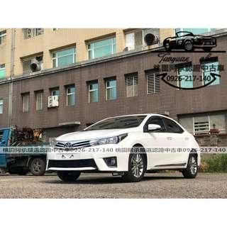 【FB搜尋桃園阿承】豐田 超人氣ALTIS S+ 2015年 1.8 白色 二手車 中古車