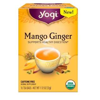 Yogi Tea, Mango Ginger, Caffeine Free , 16 Tea Bags, 1.12 oz (32 g)