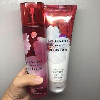 Bath & Body Works Japanese Cherry Blossom Fragrance Mist and Body Cream