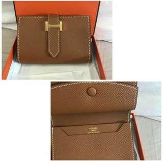 Bnew Hermes Bearns card wallet