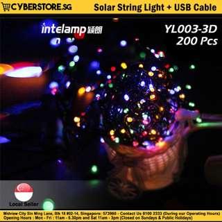 YL003-3D / Solar String Light + USB Cable