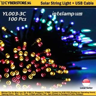 YL003-3C   Solar String Light + USB Cable