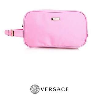 🎀SALE! VERSACE PARFUMS LARGE CLUTCH / COSMETIC POUCH (PINK) LAST 1!!!