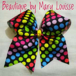 Polka Cheer Bows