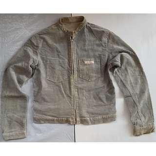 Vintage Racer Jacket, Old School Biker Jacket, Old Racing Jacket, Rare Calvin Klein Designer Biker Jacket, Original, USA, Street Smart Style, Rock Star, Zippers Fashion, Soft Corduroy, Collectibles, Rugged Wear