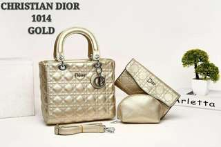 Lady Dior 3 in 1 Gold Color