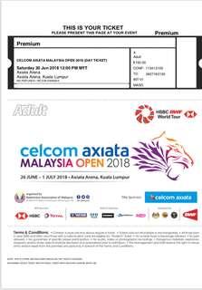 Badminton Malaysia Open 2018 (SEMI FINALS)