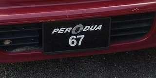 Plat number PERODUA 67