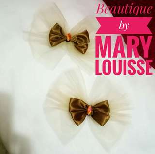 Classy Hair bows (Med to Large) Pair