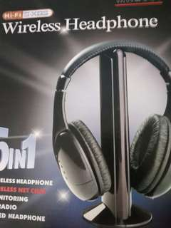 SALE! WIRELESS HEADPHONE 5 IN 1! NEW! CHECK DESCRIPTION FOR MORE DETAILS OR MSG ME THANKS