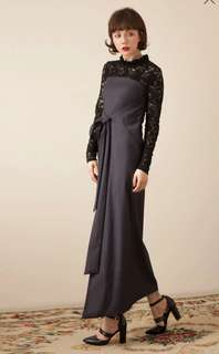 🚚 Marjorie 紫色平口洋裝