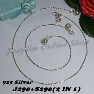 Genuine Silver 925 Anklet & Bracelet (2 IN 1)