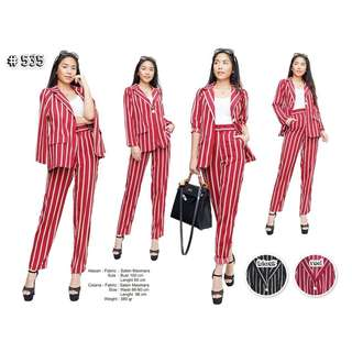 Stripe blazer set + pants