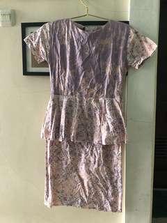 Batik Dress Peplum
